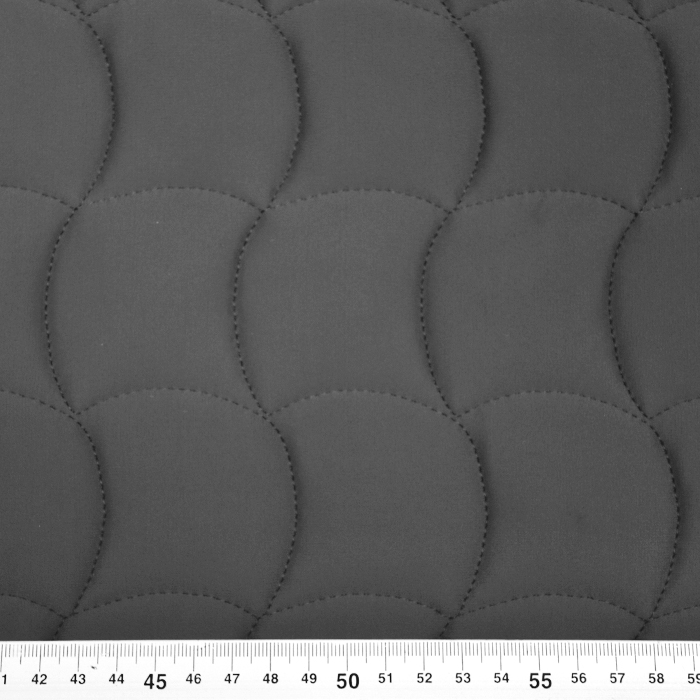Prošiven materijal, geometrijski, 21578-605, tamnosiv