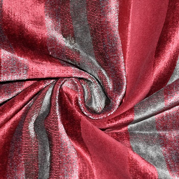 Deko žamet, Stripes, 21586-305, rdeča