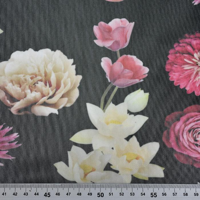 Mreža elastična, poliester, cvjetni, 21591-069