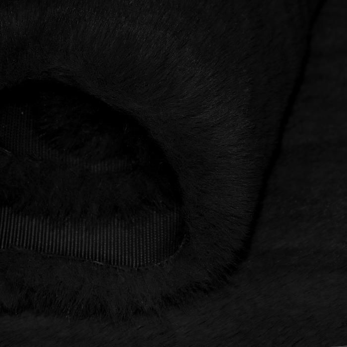 Umetno krzno, kratkodlako, 21597, črna