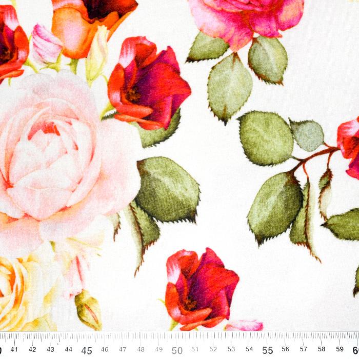Jersey, bombaž, cvetlični, 21620-1