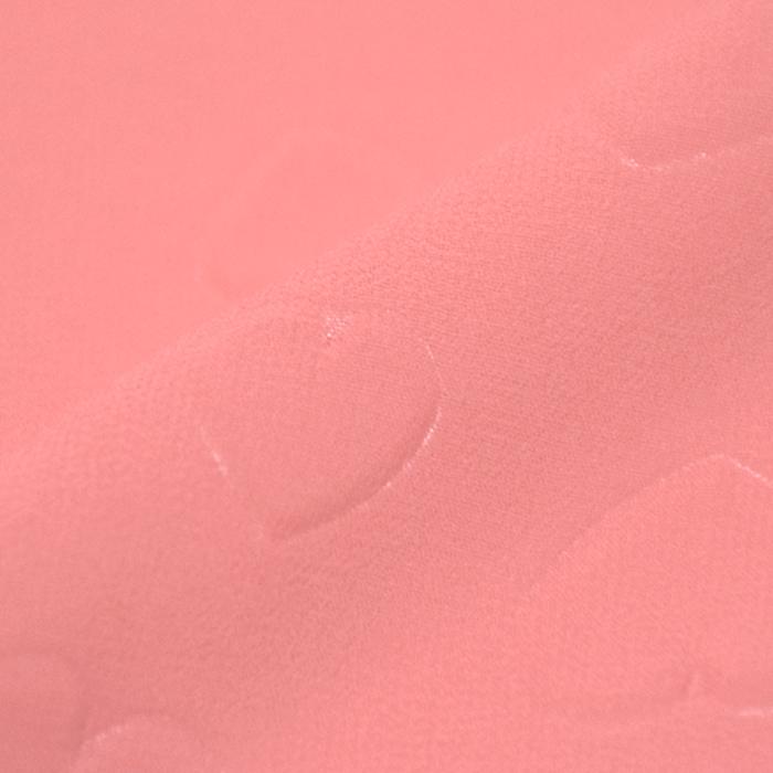 Šifon, poliester, srčki, 21623-1, roza