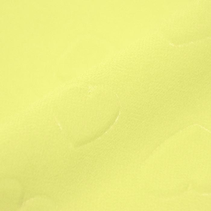 Šifon, poliester, srčki, 21623-2, rumena