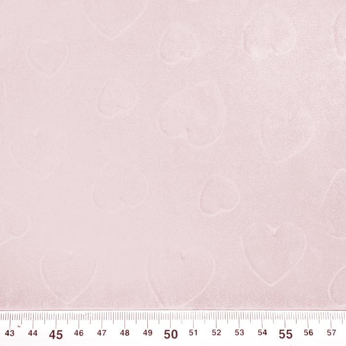 Šifon, poliester, srčki, 21623-5, svetlo roza