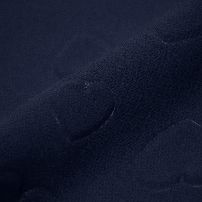 Šifon, poliester, srčki, 21623-7, temno modra
