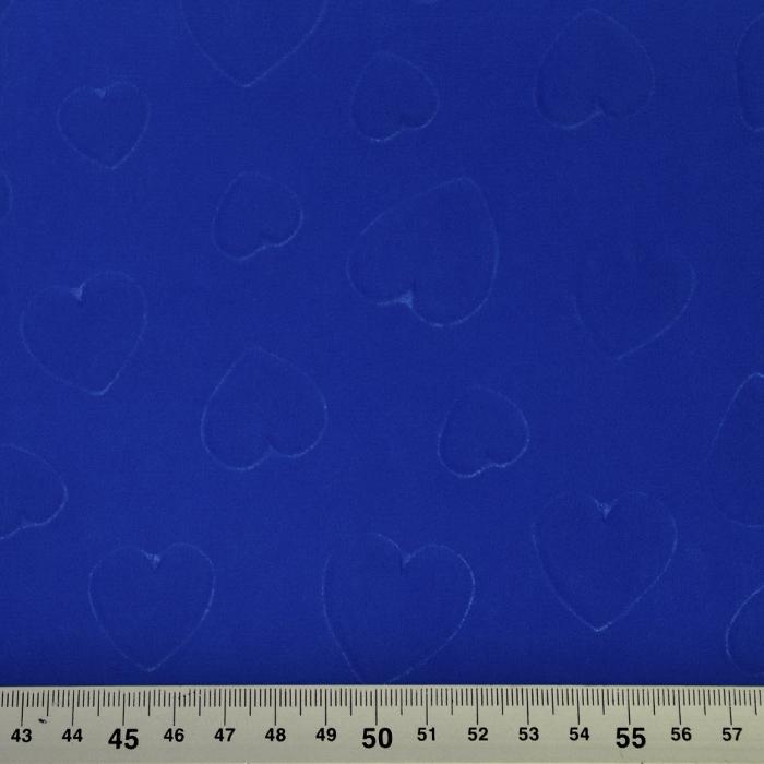 Šifon, poliester, srčki, 21623-8, modra