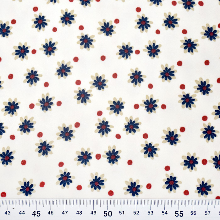 Šifon, poliester, cvetlični, 21635-3
