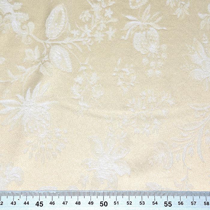 Žakard, obojestranski, cvetlični, 21645-2, bež