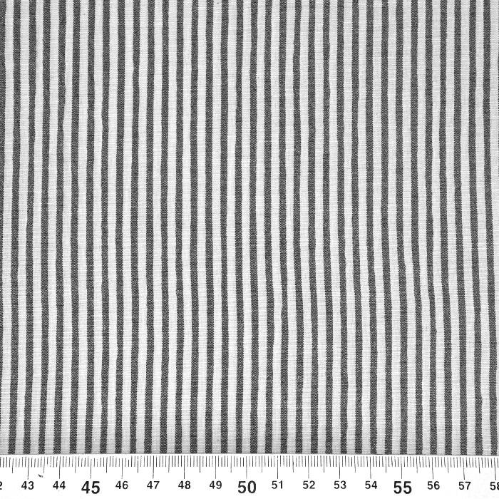 Bombaž, mečkanka, črte, 20533-069, črna