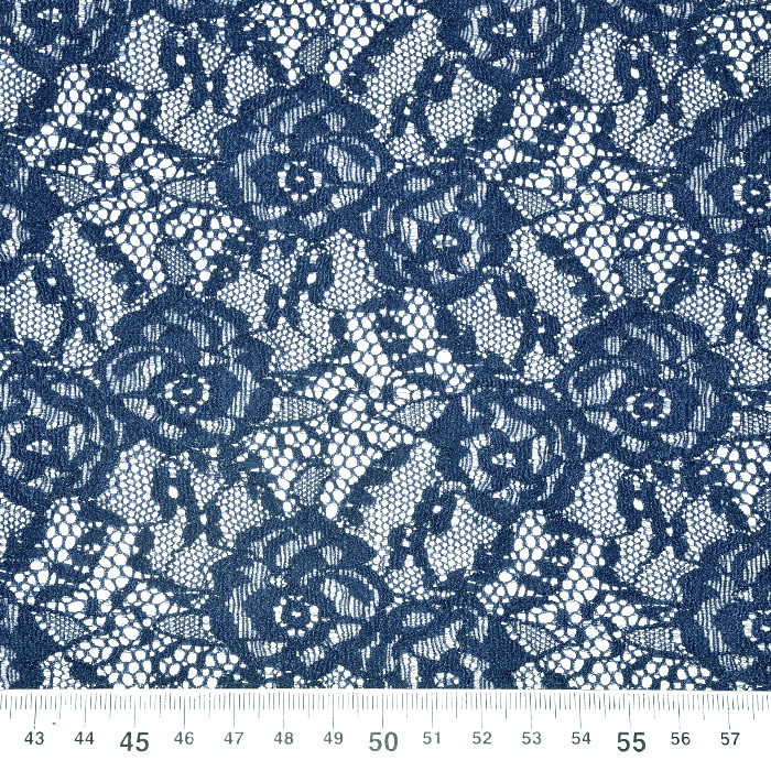 Čipka, elastična, 21657-007, modra