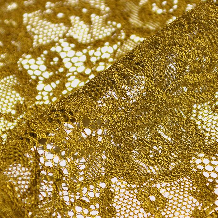 Čipka, elastična, 21657-037, rumena