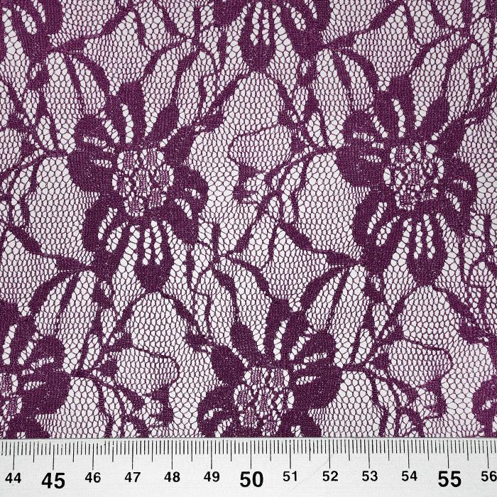 Čipka, elastična, 21658-019, vijola
