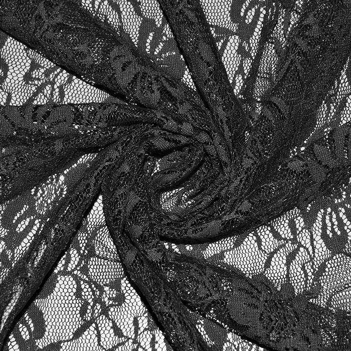 Čipka, elastična, 21658-069, črna