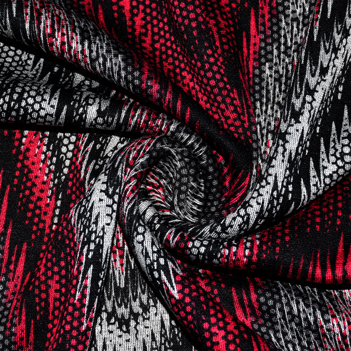Pletivo, gosto, abstraktni, 21663-015, rdeča