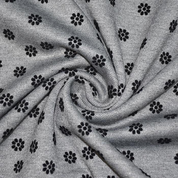 Pletivo, gosto, cvetlični, flock tisk, 21670-061, siva