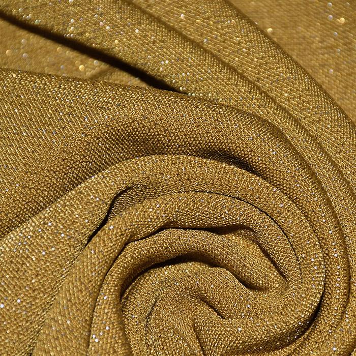 Pletivo, gosto, glitter, 21673-037, rumena
