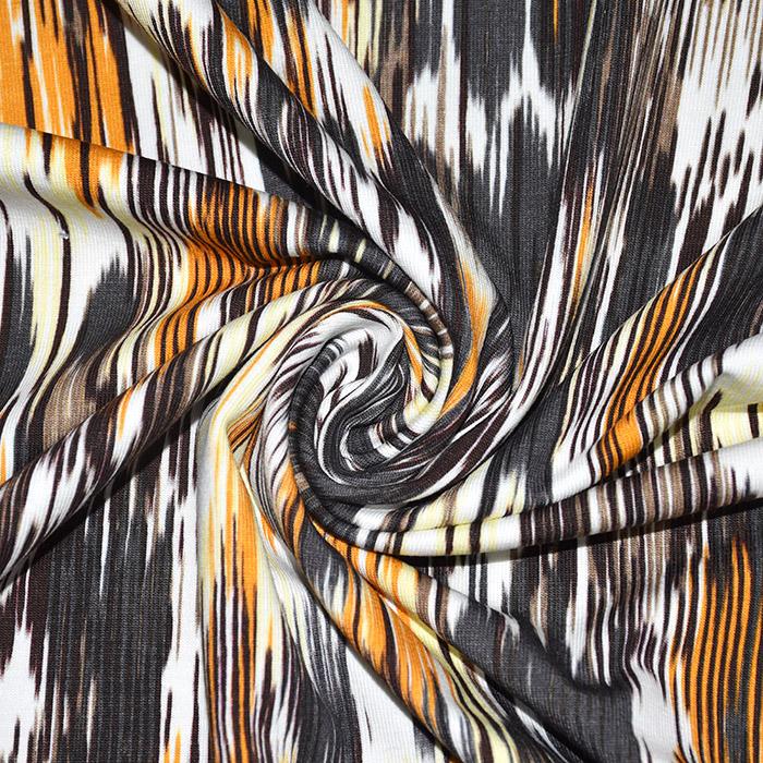 Jersey, bombaž, digital, abstraktni, 21678-034, rumena