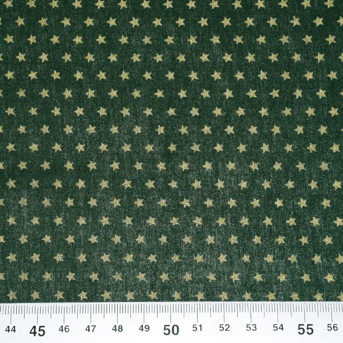Bombaž, poplin, praznični, 21681-025, zelena