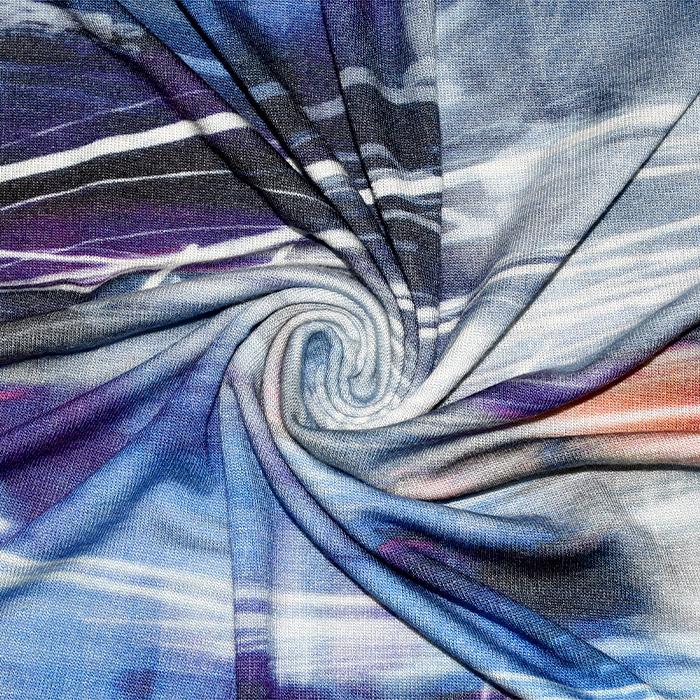 Pletivo tanjše, abstraktni, 21633-2, modra