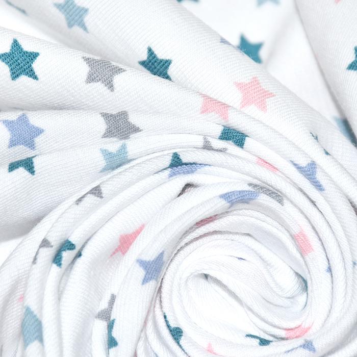 Jersey, bombaž, zvezdice, 21688-050, bela