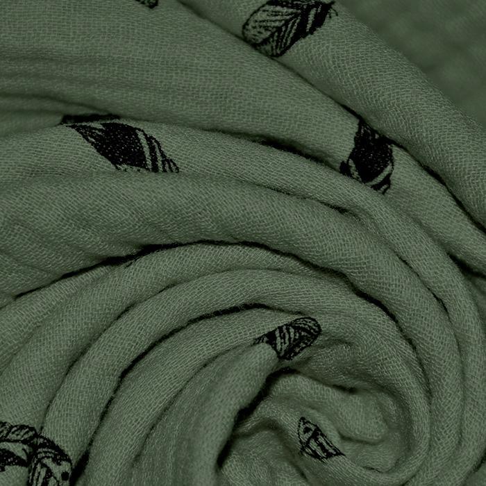 Tetra tkanina, dvojna, peresa, 21697-227, zelena
