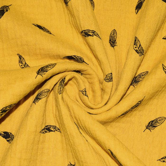 Tetra tkanina, dvojna, peresa, 21697-233, rumena