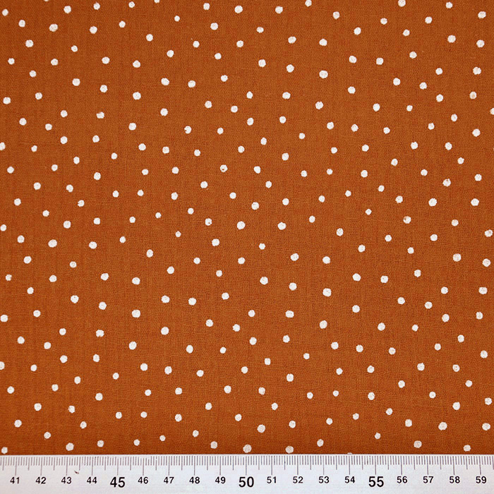 Tetra tkanina, dvojna, pikice, 19032-029, opečna