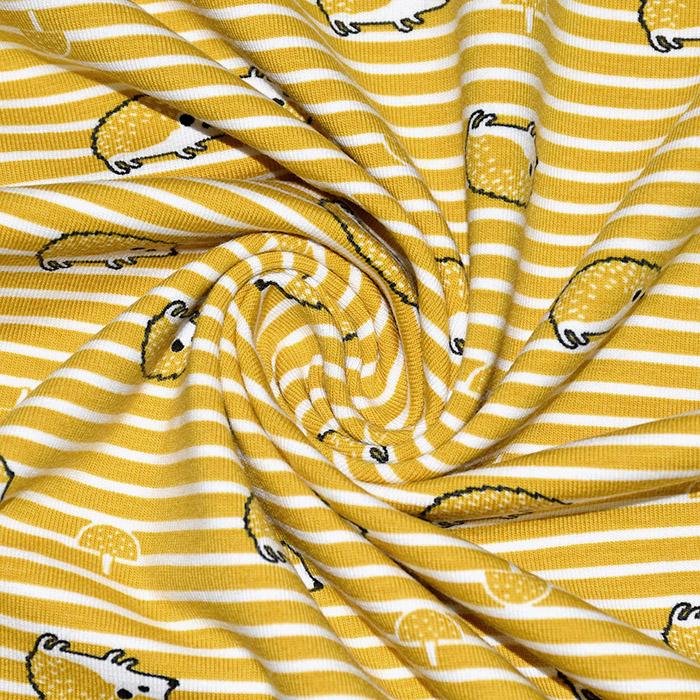 Jersey, bombaž, živalski, 21765-033, rumena
