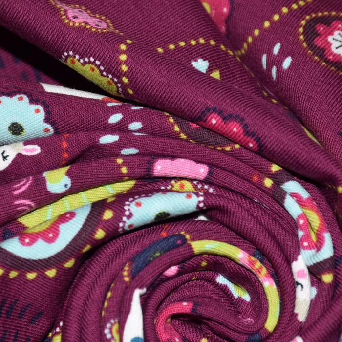 Jersey, bombaž, otroški, 21835-019, vijola