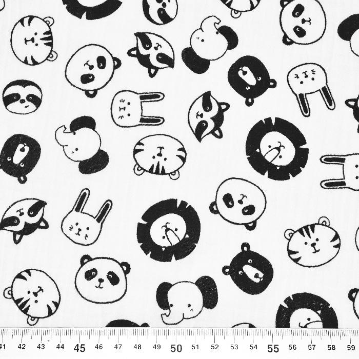 Tetra tkanina, dvostruka, životinjski, 21858-051, boja vrhnja