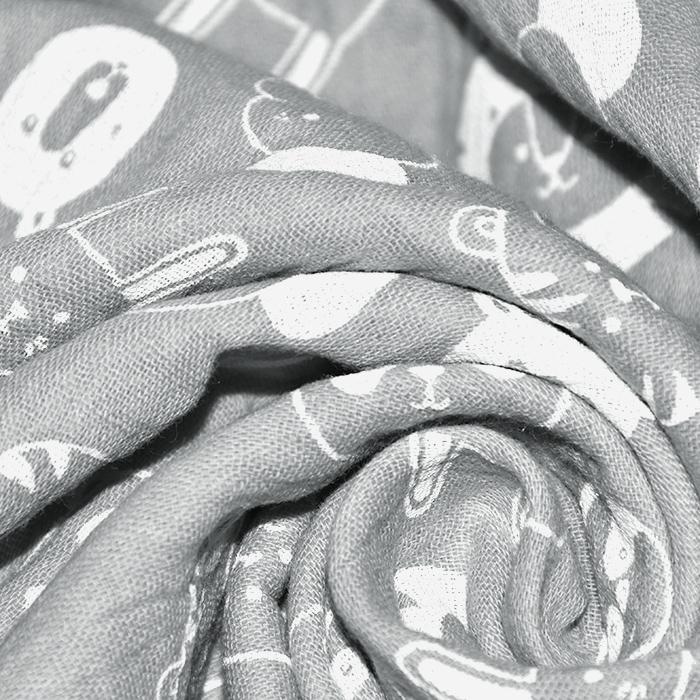 Tetra tkanina, dvojna, živalski, 21858-061, siva