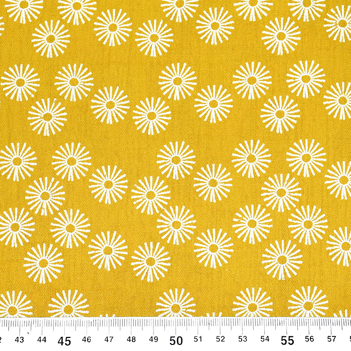 Tetra tkanina, dvostruka, cvjetni, 21859-034, žuta