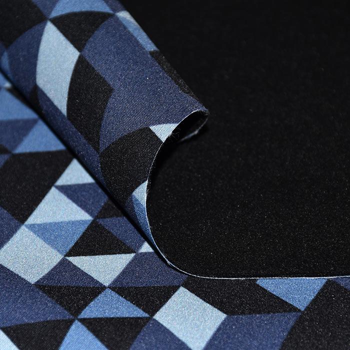 Softshell, velur, geometrijski, 21870-002, modra