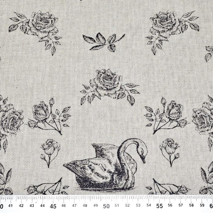 Deko, tisk, cvetlični, 15188-364