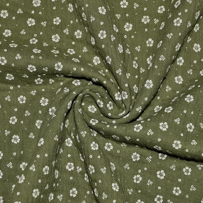 Tetra tkanina, dvojna, cvetlični, 21910-5031, zelena