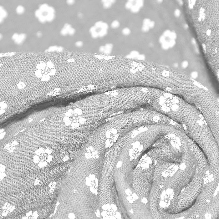Tetra tkanina, dvojna, cvetlični, 21910-3005, siva