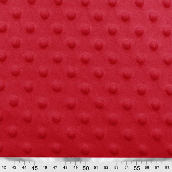 Velur coral, Minky, 21912-015, rdeča
