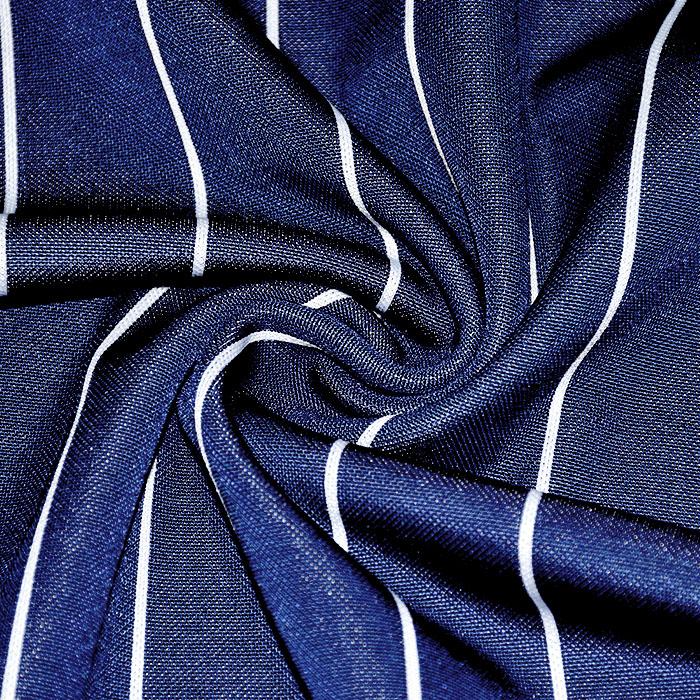 Pletivo, gosto, črte, 21918-17, modra