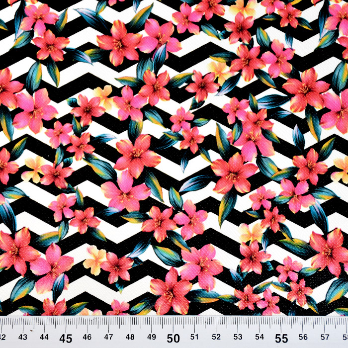 Umetno usnje Digital, cvetlični, 19388-541