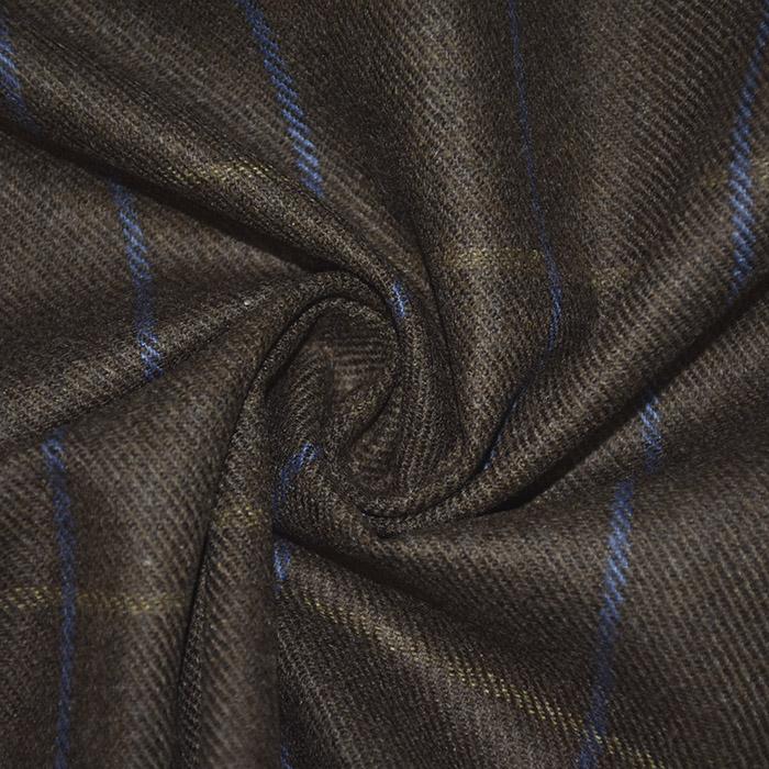 Volna za plašče, karo, 21925-43, rjava