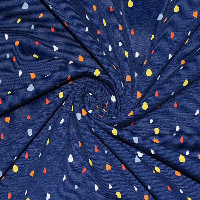 Jersey, bombaž, pike, 21928-008, modra