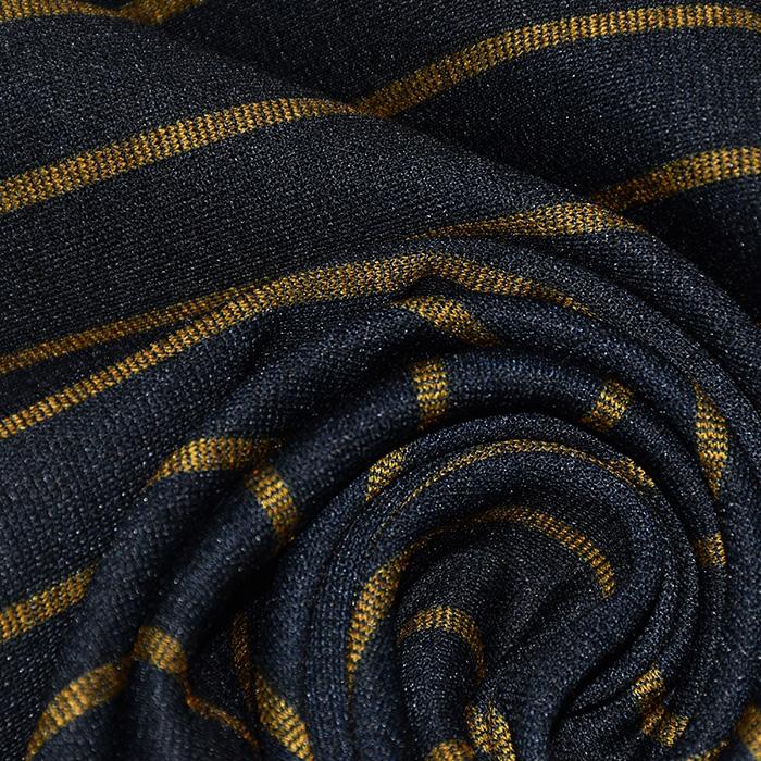 Pletivo, gosto, črte, 21936-034, temno modra