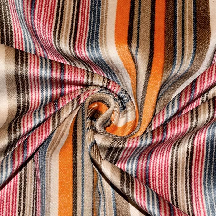 Deko žamet, črte, 21945-6, večbarvni