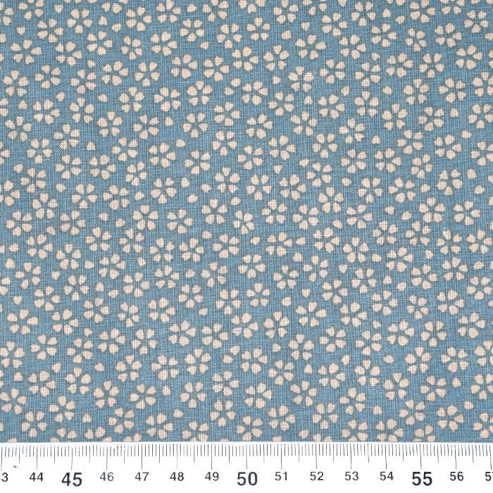 Bombaž, poplin, cvetlični, 21947-3, modra