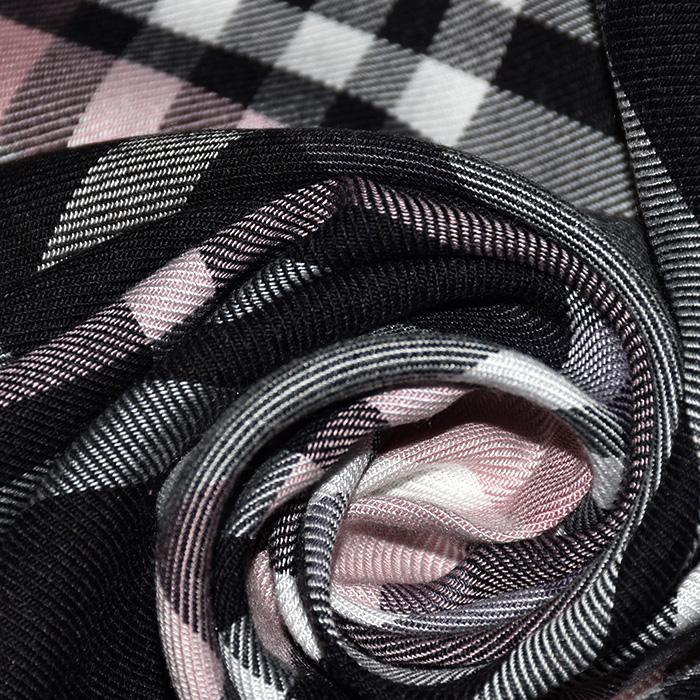 Tkanina, viskoza, karo, 21973-013, ružičasta