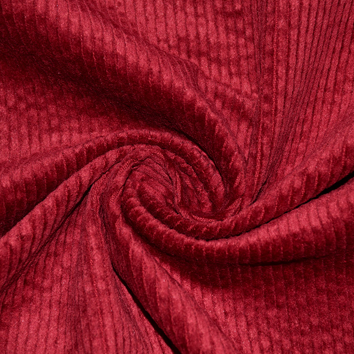 Žamet, bombaž, 21984-666, rdeča