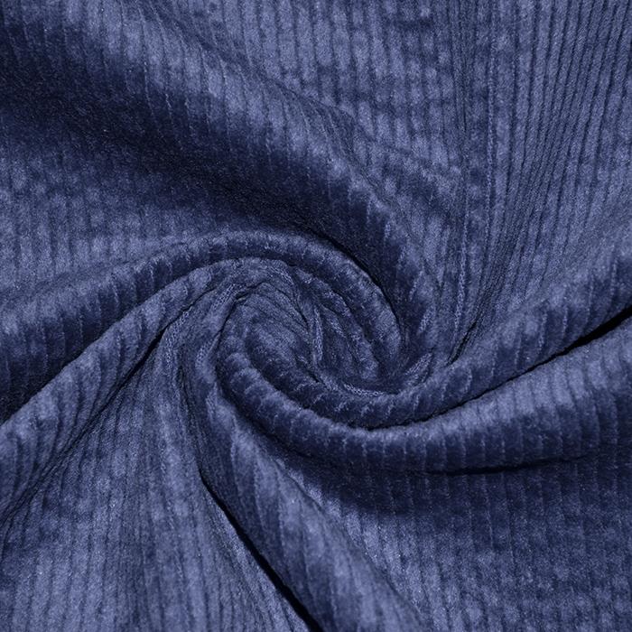 Žamet, bombaž, 21984-807, modra