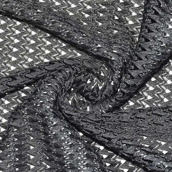 Čipka, geometrijski, 21776-68, siva