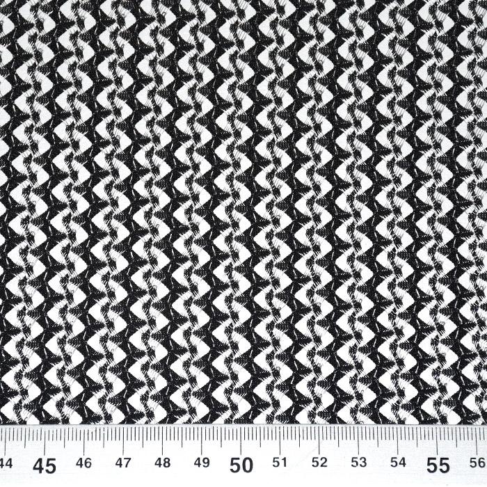 Čipka, geometrijski, 21776-69, črna