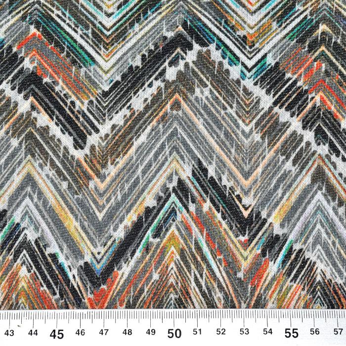 Pletivo, geometrijski, 21776-71, belo oranžna
